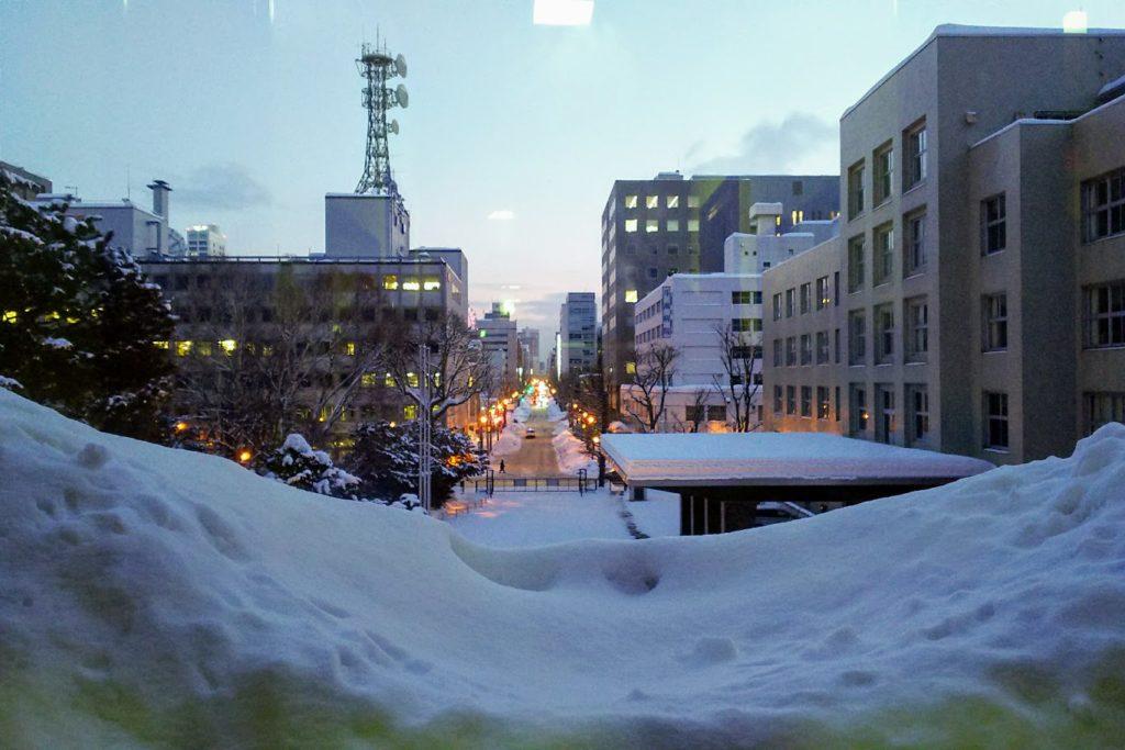 雪に包まれた札幌の街