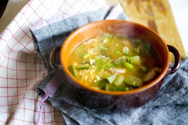 インゲンのスープ